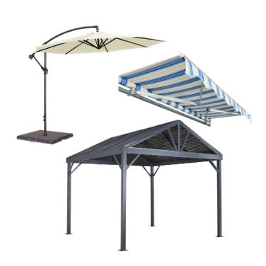Markiisid, päikesevarjud ja aiatelgid